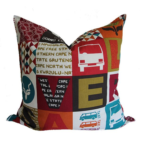 Love RSA scatter cushions from Ruby & Me available in 50 x 50cm or 60 x 60 cm with print on both sides.