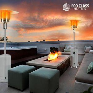 <p>Gare à l'hiver ! Nous vous présentons le magnifique <strong>parasol chauffant à gaz Eco Class Heaters GH 12000W</strong> ! Un <strong>appareil de chauffage à gaz</strong> de qualité et au design soigné. Fabriqué en aluminium et acier inoxydable. Ce <strong>chauffage d'appoint pour extérieurs</strong> est la solution idéale pour chauffer des terrasses, cours, jardins, etc.Dispose d'un gradateur, d'une fonctionarrêt a...