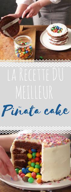 Découvrez la recette du piñata cake - Cuisine Actuelle