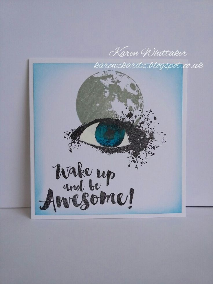Moon stamp and Vision Inkognito stamp sets #beecraftystamps #moonstamp #visibleimage #visioninkognito  #wakeupawesome #distressinks #stamping #stamp #cardmaking #card #creative #craft #ilovetocraft