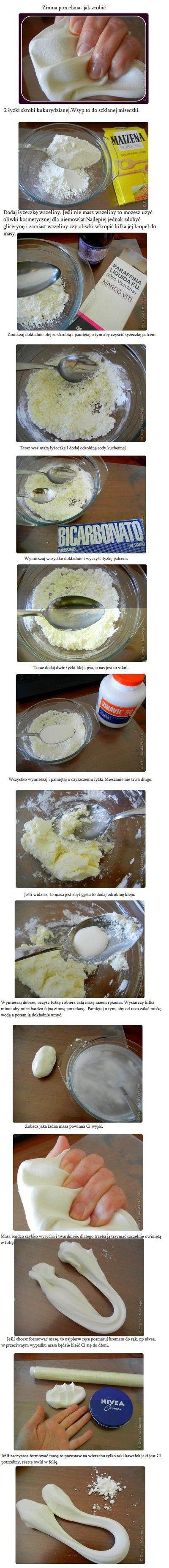 Zimna porcelana, bez gotowania- przepis