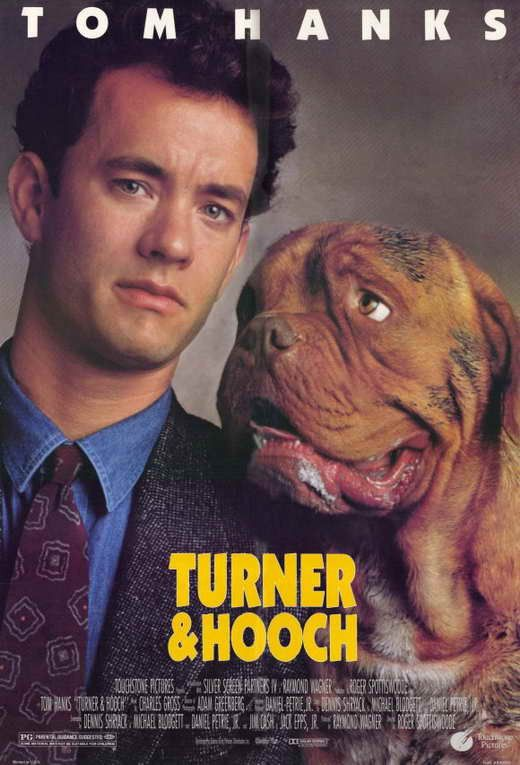 Turner & Hooch (1989) Academy Award® winner Tom Hanks (1993, Best Actor, Philadelphia; 1994, Best Actor, Forrest Gump) stars as Scott Turner, a compulsively neat detective whose tidy world goes to the