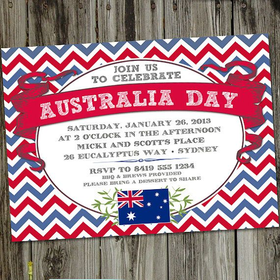 #AustraliaDayOnboard Australia Day PRINTABLE Party Invitation by partymonkey on Etsy, $15.00