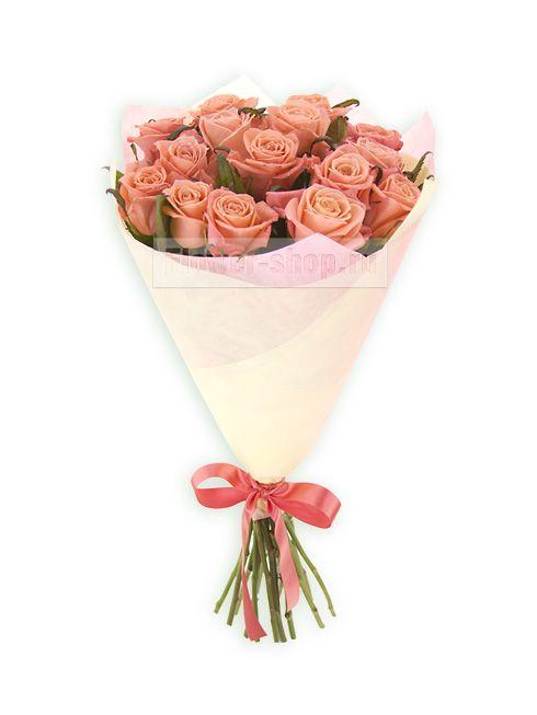 Букет из коралловых роз