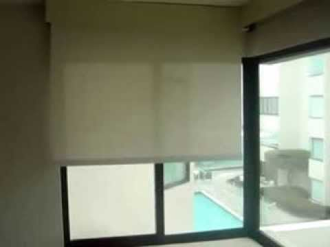Dual motorized roller blackout screen shades by 3 blind for Motorized blackout shades with side channels