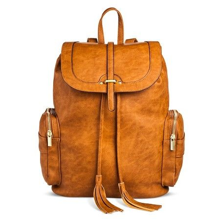 Women's Backpack Faux Leather Handbag Cognac - Mossimo Supply Co.™ : Target