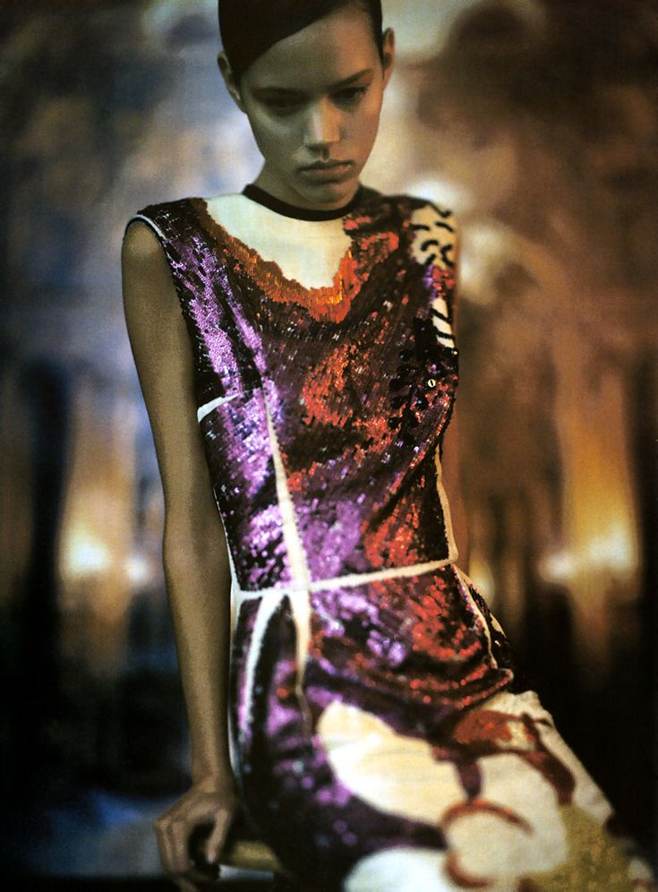 Freja Beha photographed by Paolo Roversi wearing Lanvin for Vogue Italia, April 2006.: Freja Beha Erichsen, Paolo Roversi, Italian Vogue, Editorial, Dresses Fashion, Sequins Dresses, Fashion Photography, Italy April, April 2006