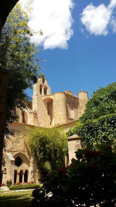 Abbaye de Valmagne, Languedoc L'Abbaye Sainte-Marie de Valmagne est une abbaye cistercienne située à Villeveyrac, dans le département de l'Hérault