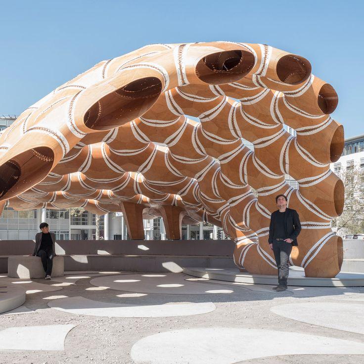 Robotically Fabricated Pavilion By University Of Stuttgart