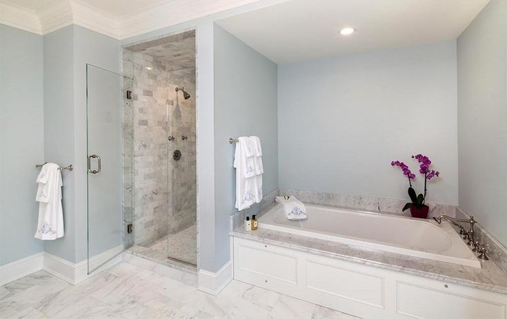Hemingway Construction | Gallery of Bathrooms | Modern Bathroom | Carrera Marble