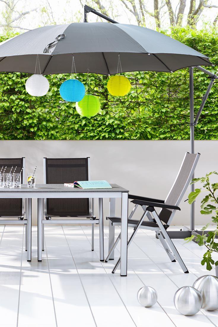 Dekorativer Sonnenschutz Aussenmobel Dekorieren Gartenmobel