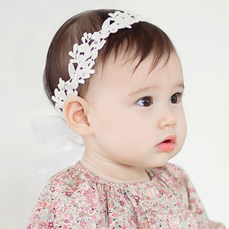 2016 Baby Flower Headband Girl Children Infant Baby White Floral Hair band Accessories Adjustable Headband For Baby Girls