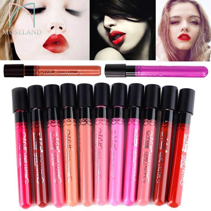 1pcs, Amazing 14 Colors Waterproof Liquid Makeup Lip Stick Lip Pencil Matte Lipstick Lip Gloss Pen Drop MN