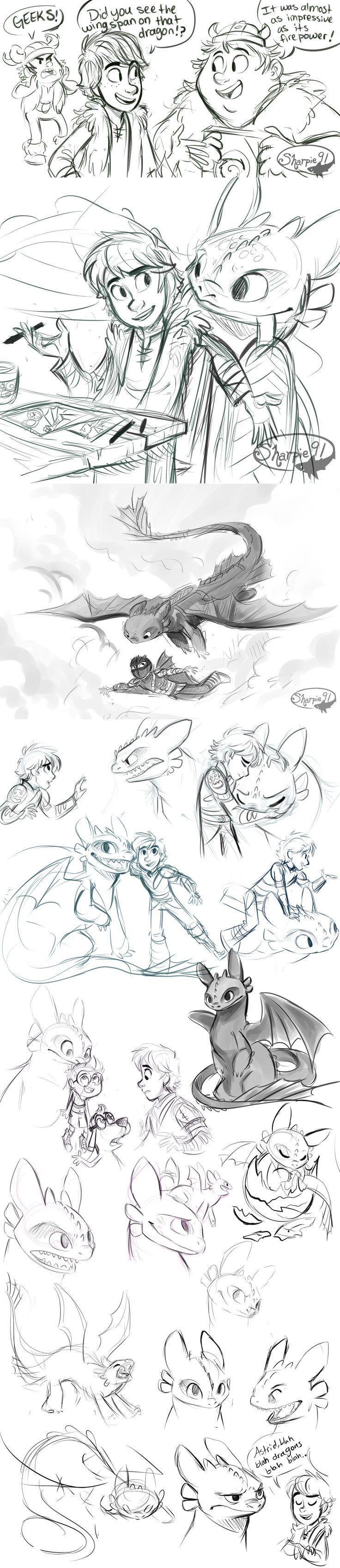 Httyd Stuff (spoilers) by sharpie91 on deviantART - How to Train Your Dragon Fanart