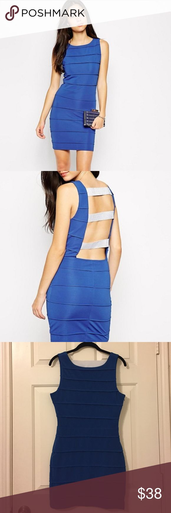 ASOS Rare London Blue Bandage Dress w/ Back Straps New with tags! Cobalt Blue colour, size medium/uk 10/eur 38/us 6. Made of 95% Polyester, 5% Elastane. A great addition to your wardrobe! ASOS Dresses Mini