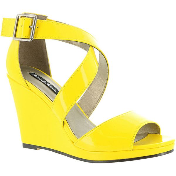 The 25  best Yellow wedges ideas on Pinterest | Sexy heels, Wedge ...