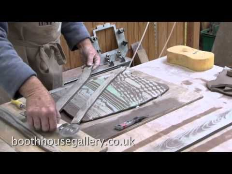 A ceramic bowl - layering technique with Jim Robison www.boothhousegallery.co.uk/writing.htm - YouTube