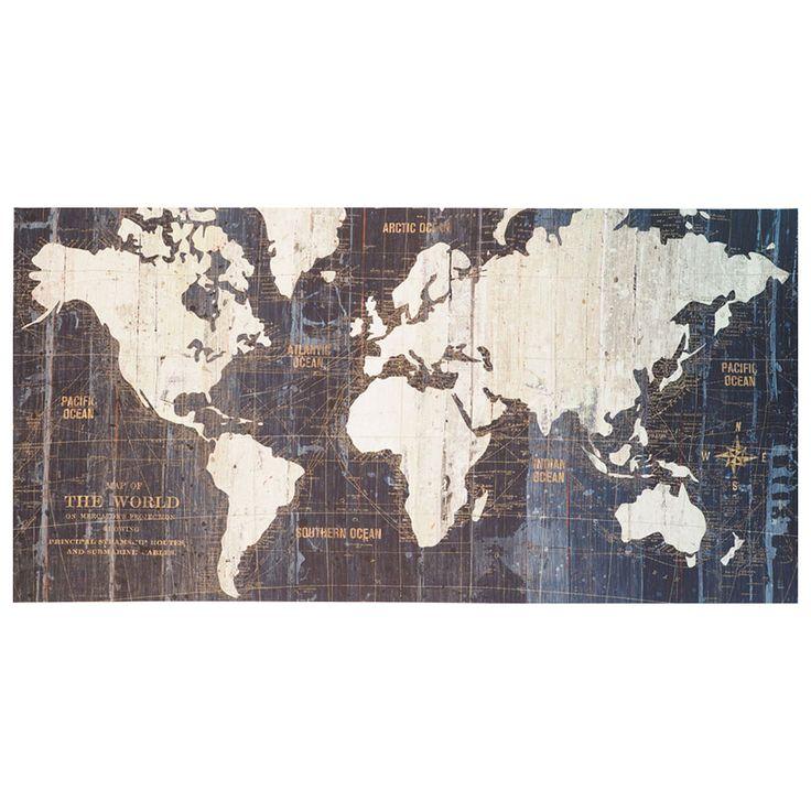 Arthouse Vintage World Map Blue