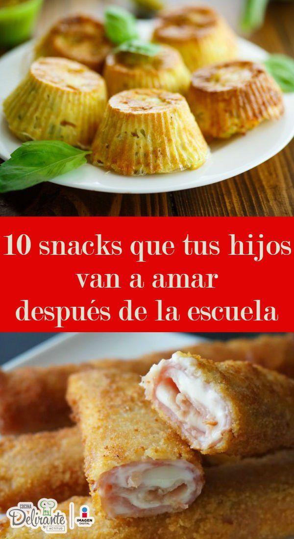recetas de snacks saludables y faciles | CocinaDelirante