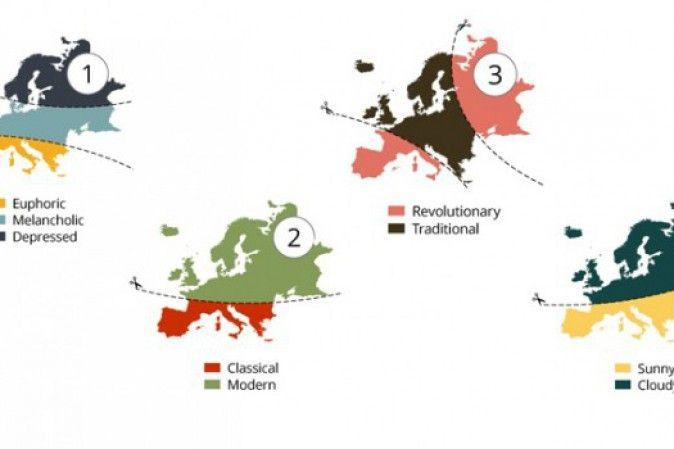 Le mappe dell'Europa divisa per stereotipi