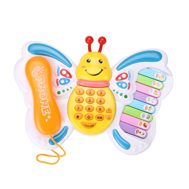 Baby Toys Electrical Musical Piano Educational Keyboard Butterfly Toy Phone Number Animal Sound Early Learning Toys  For Baby