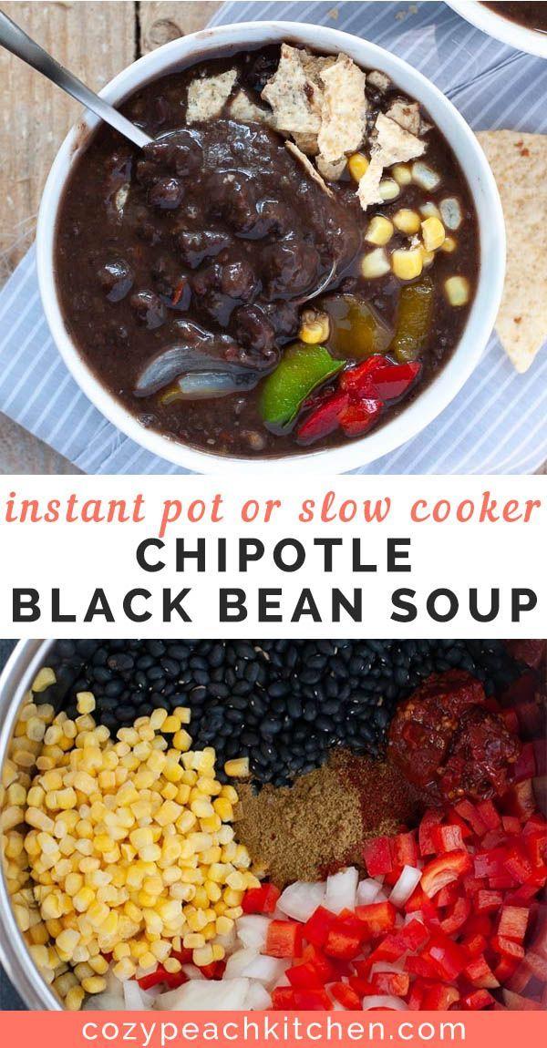 Chipotle Vegan Black Bean Soup
