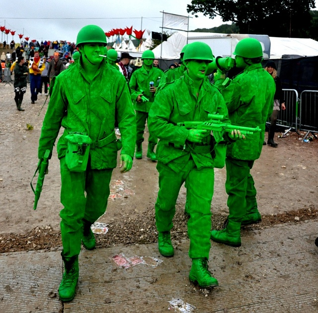 Fancy Dress green toy soldiers from Toy Story