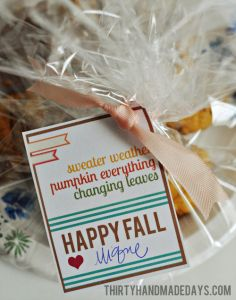 Super cute fall foodie gift tag!