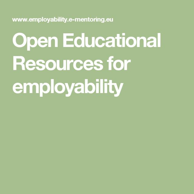 Open Educational Resources for employability