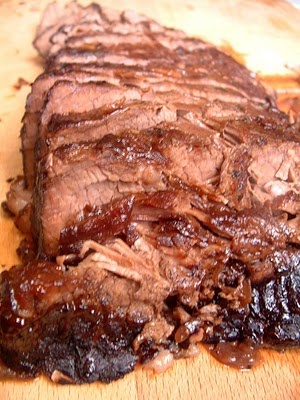 Red Wine Braised Beef Brisket, from Every Day Food, and Glazed Carrots