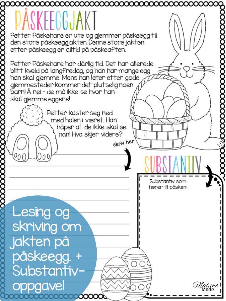 Stjerneskudd med påsketema! Alle lærere kan skrive ut disse oppgavene gratis og…