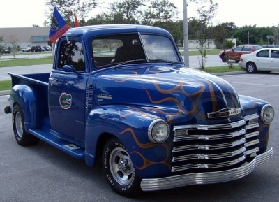 awesome chevy trucks florida gators truck 1950 chevrolet pickup completely redone 35. Black Bedroom Furniture Sets. Home Design Ideas