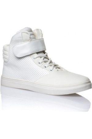 Homme Baskets - Chaussures Basket blanche semi montante à scratch