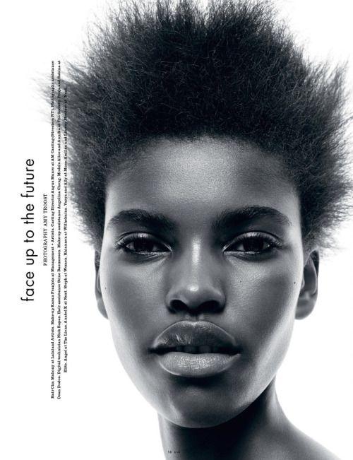 Amilna Estevao by Amy Troost for i-D Magazine Fall 2015 Hair: Cim Mahony  Makeup: Karan Franjola