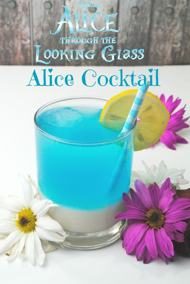 Enjoy a blue cocktail recipe inspired by Alice Through the Looking Glass.