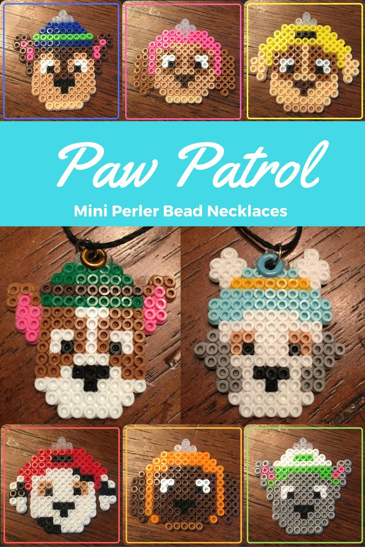 Paw Patrol Perler Bead Necklaces