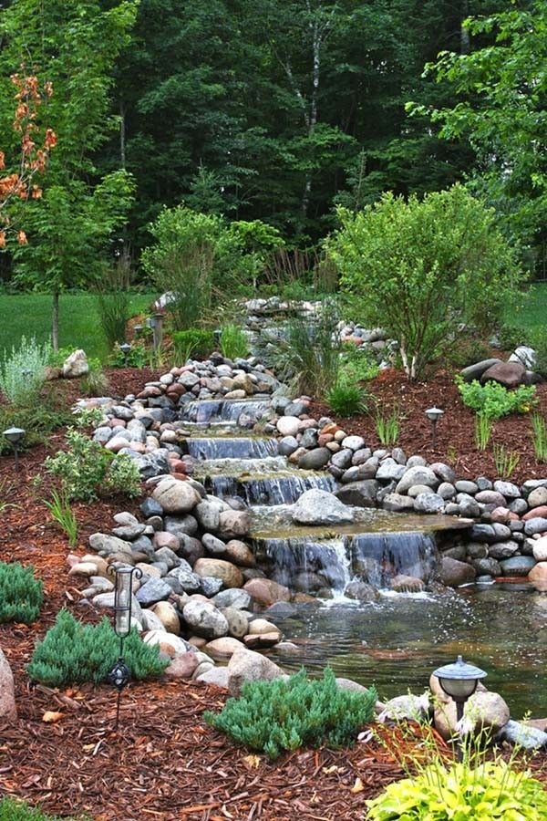 24 Best Effective And Practical Farm Pond For Your Living Space Waterfalls Backyard Ponds Backyard Small Backyard Landscaping