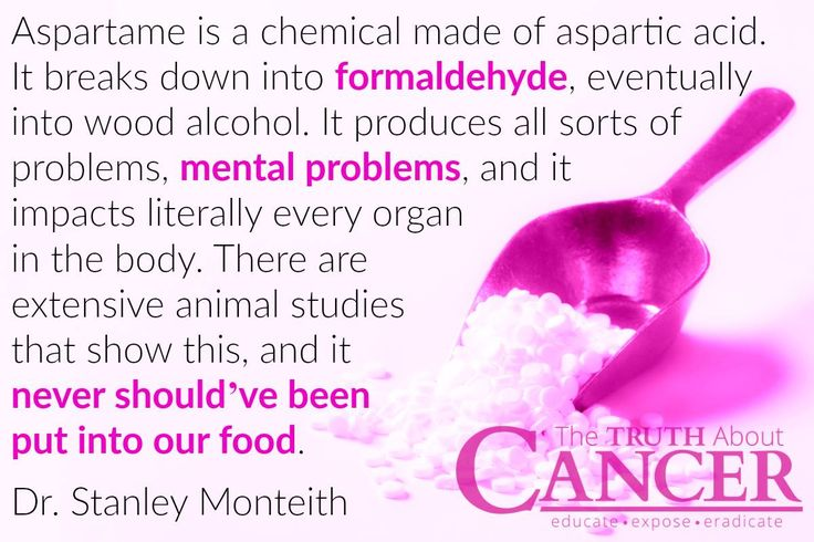 """Aspartame is POISON. Dr. Stanley Monteith points out, """"Aspartame is a chemical made of aspartic acid. It breaks down into formaldehyde, eventually into wood alcohol. It produces all sorts of problems, mental problems, and it impacts literally every organ in the body. There are extensive animal studies that show this, and it never should've been put into our food."""" Please re-pin. Together we are saving lives everyday. Join us for much more great information! <3"""
