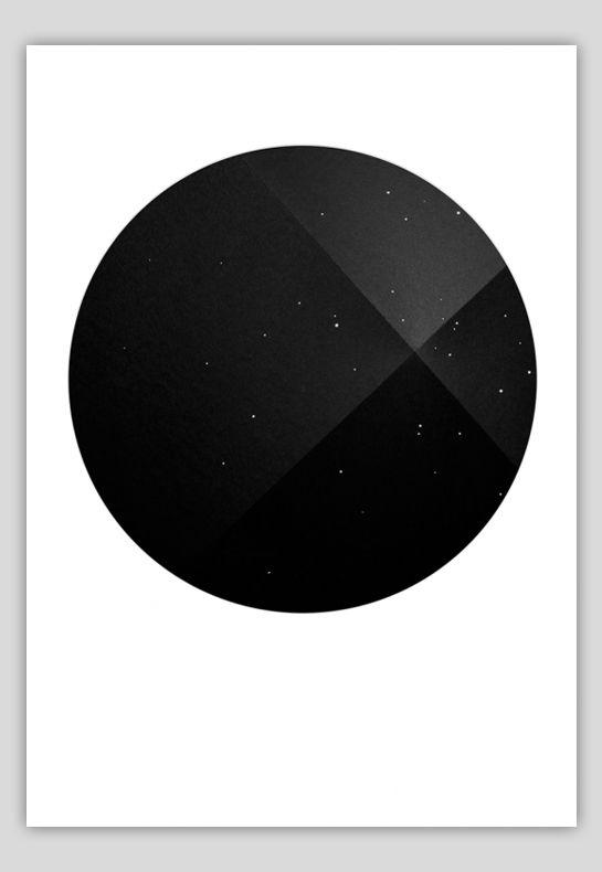 minimal circle monotone poster