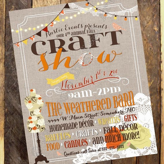 16 best Flea markert shows images on Pinterest Flea markets - fall flyer