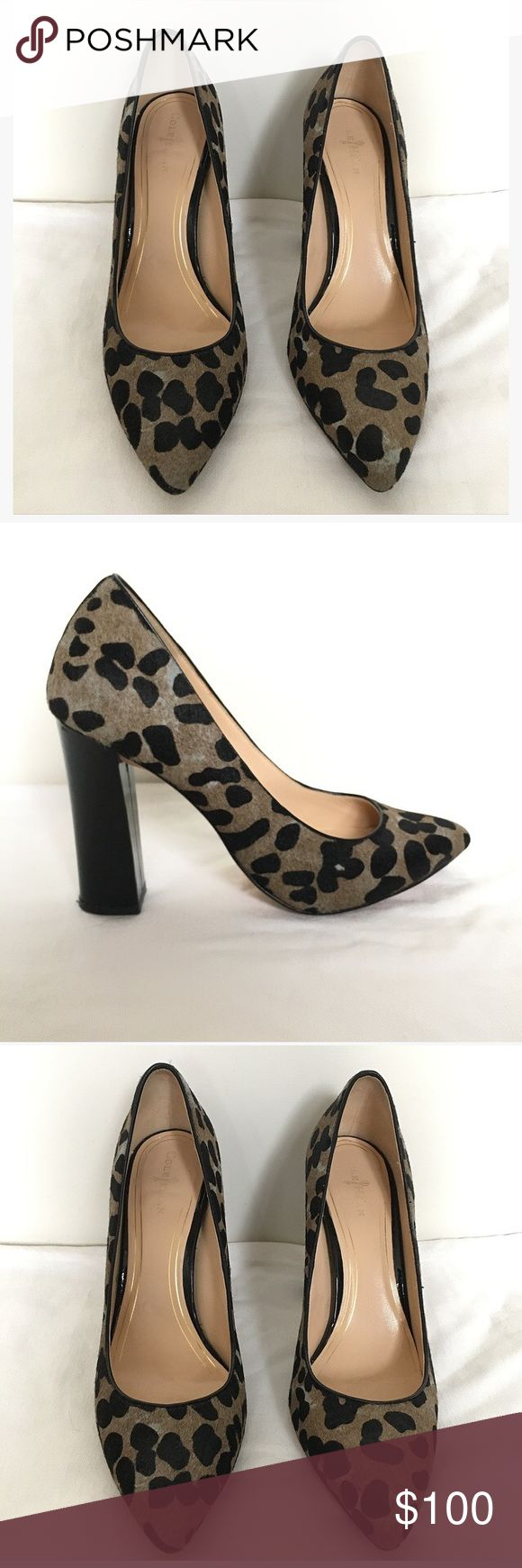 """Cole Haan Pony Hair Spotted Pumps Fall 2013 Cole Haan (NikeAir) pointed toe, pony hair, spotted pump with black patent block heel. Worn on only a few occasions with tights. Heel height 4"""". Cole Haan Shoes Heels"""