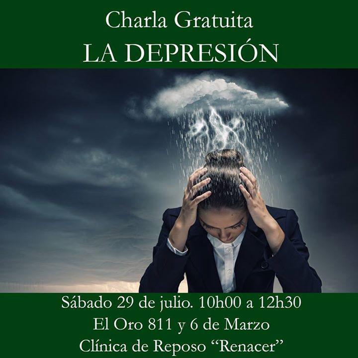 Este sábado les esperamos en la charla la charla gratuita sobre LA DEPRESIÓN sus causas y consecuencias. La depresión no es sinónimo de debilidad podemos padecerla todos y es una enfermedad de gravedad. Entrada gratuita. Inscripción previa clinicarenacer@live.com El Oro 811 y 6 de Marzo. Sábado 29 de julio de 10:00 a 12:30. http://ift.tt/1RoODhV  http://ift.tt/2uZTvSC