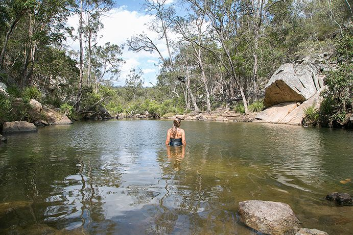 10 Waterfalls and Waterholes in Southern Queensland. Bottle Brush Pool Crows Nest National Park