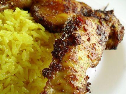 Resep Ayam Panggang Nasi Kunyit
