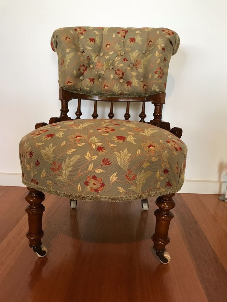 Chair upholstered by participant in Padgham Upholstery class