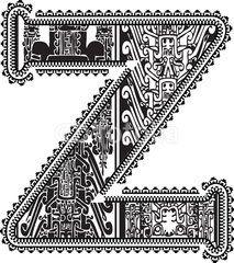 aztec coloring pages letter a - photo#45