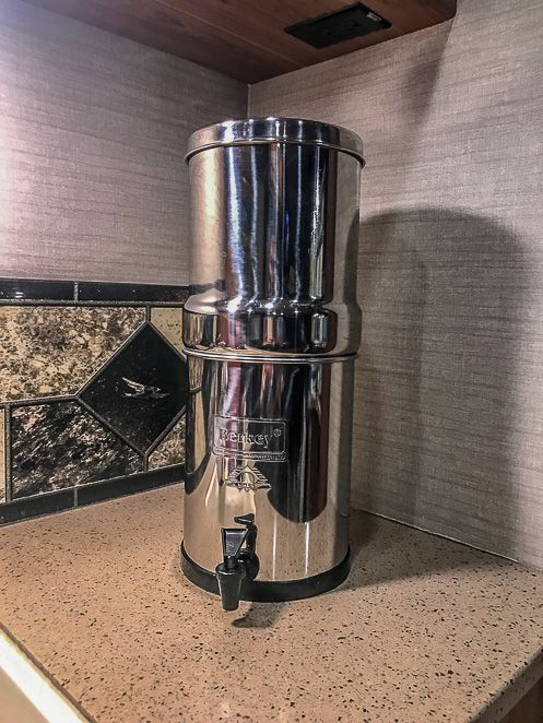 Berkey Water Filter - RV Must Haves - RV Accessories - RV Ideas - RV Products - Camper Accessories - Let's Travel Family