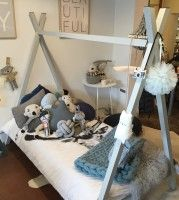 Feed your child's imagination with our brand new teepee bed. Shown here in light grey, this steel frame bed is powder coated to order in your choice of colour. Available in single ($675) or king single ($725). Delivery available throughout Melbourne. Contact us for a quote for delivery throughout the rest of Australia. Approximate wait time …