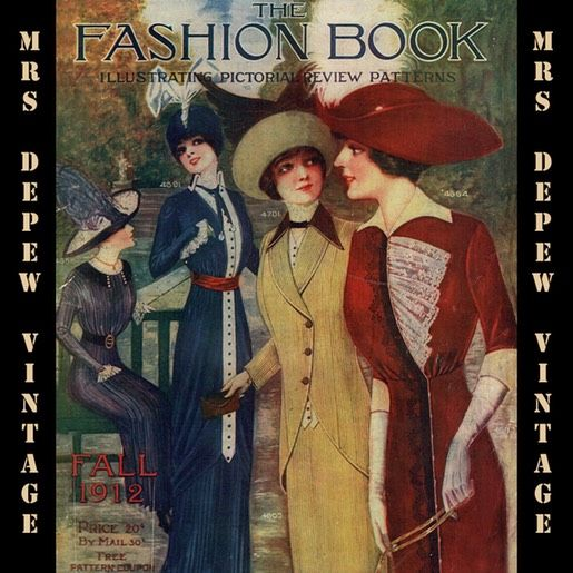 90 best e books for historical fashion sewing research images on vintage large pattern catalog pictorial review fashion book from 1912 instant download featuring titanic fandeluxe Choice Image