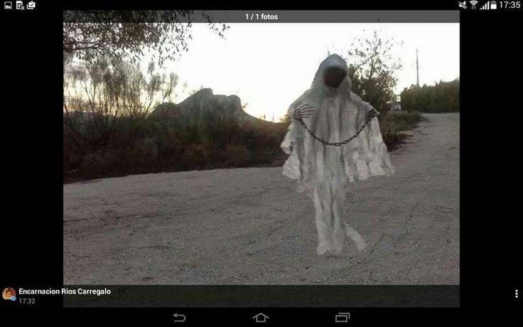 Fantasma en Peña de los enamorados.  Antequera Malaga